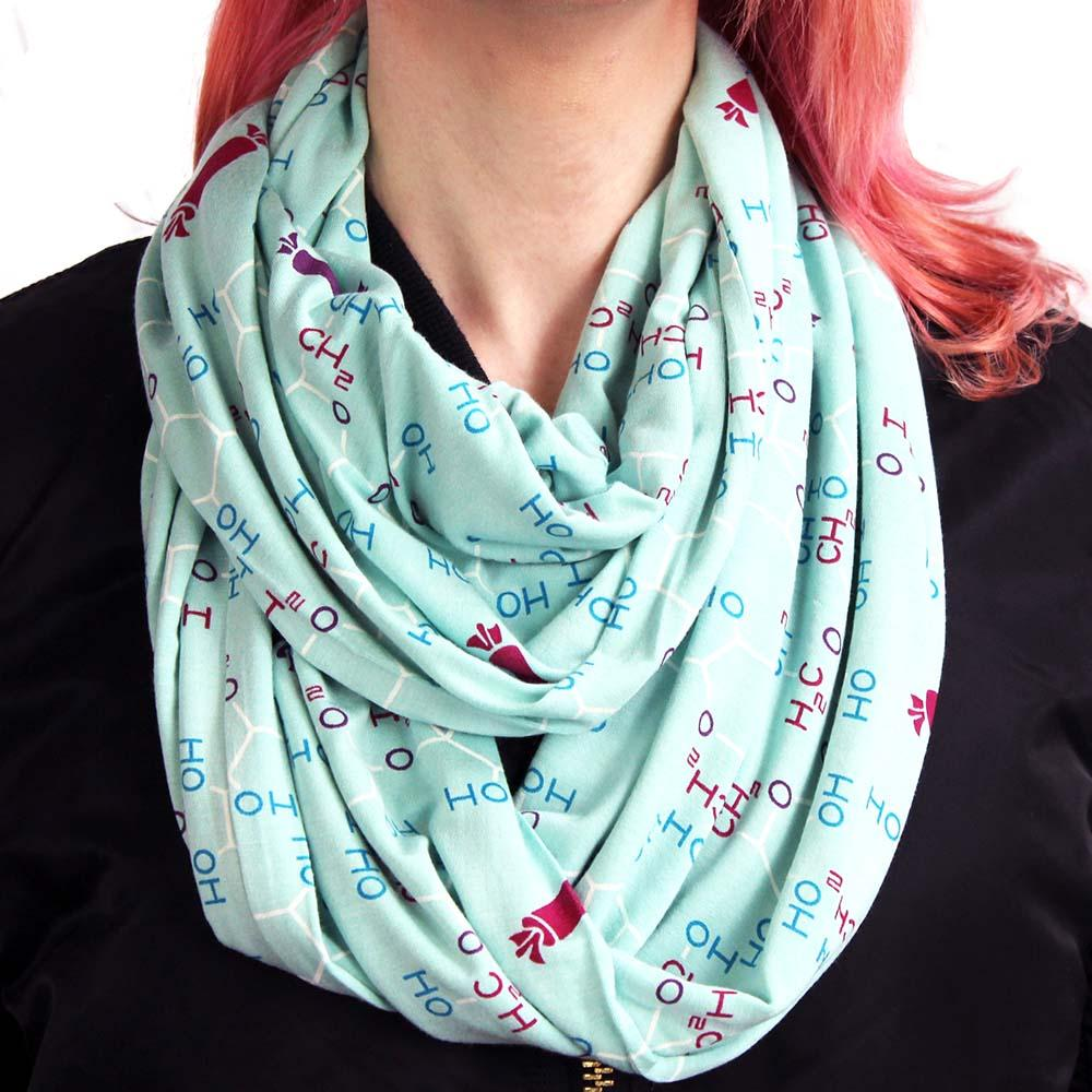 Striking Striped Tassle Knit Circle Loop Infinity Scarf Snood Christmas Gift